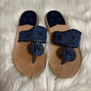 Jack Rogers Denim Flat Sandals